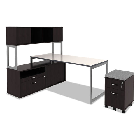 Alera Alera Open Office Desk Series Hutch, 59w x 15d x 36.38h, Espresso