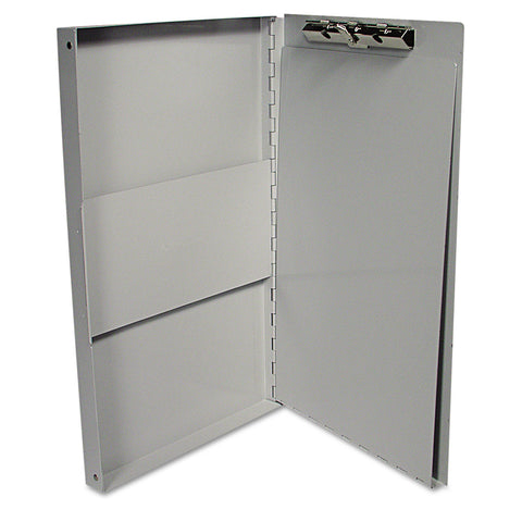 "Universal Aluminum Document Box, 2/5"" Capacity, Holds 8 1/2w x 11h - Aluminum / 8 1/2 x 11"