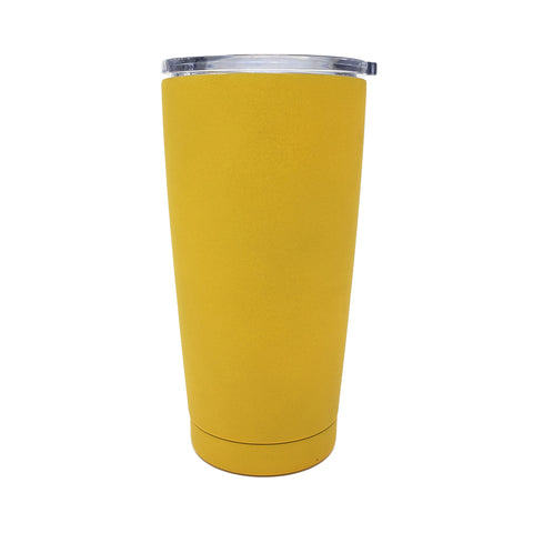 20 oz Double Wall 18/8 Pro-Grade Stainless Vacuum Sealed Tumbler with Clear Leak-Proof Lid with Mouth Opening  | Great For Alkaline Water Storage - Mango