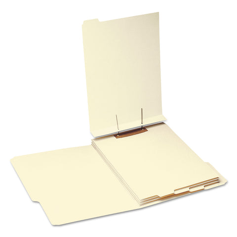 Smead Stackable Folder Dividers w/ Fasteners, 1/5-Cut End Tab, Letter Size, Manila, 50/Pack - Manila / Letter