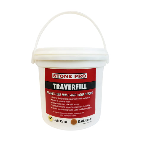 Stone Pro Traverfill - Travertine Hole And Void Repair - 3 Pound - Light