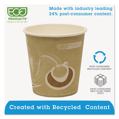Eco-Products Evolution World 24% Recycled Content Hot Cups - 10oz., 50/PK, 20 PK/CT