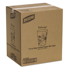 Dixie Pathways Paper Hot Cups, 12oz, 50/Pack