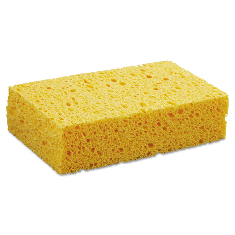 "Boardwalk Medium Cellulose Sponge, 3 2/3 x 6 2/25"", 1.55"" Thick, Yellow, 24/Carton - Yellow"