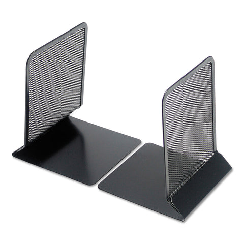 "Universal Metal Mesh Bookends, 5 3/8"" x 6 3/4"", Black"