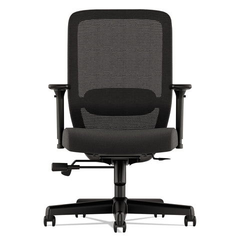HON Exposure Mesh High-Back Task Chair, Supports up to 250 lbs., Black Seat/Black Back, Black Base - Black