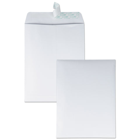 Quality Park Redi-Strip Catalog Envelope, #12 1/2, Cheese Blade Flap, Redi-Strip Closure, 9.5 x 12.5, White, 100/Box - White / #12 1/2