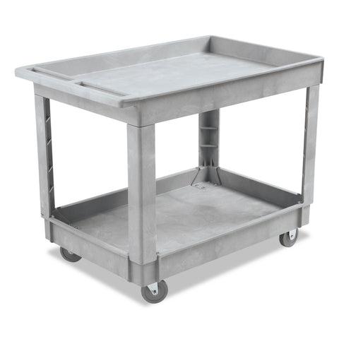 Boardwalk Utility Cart, Two-Shelf, Plastic Resin, 24w x 40d, Gray