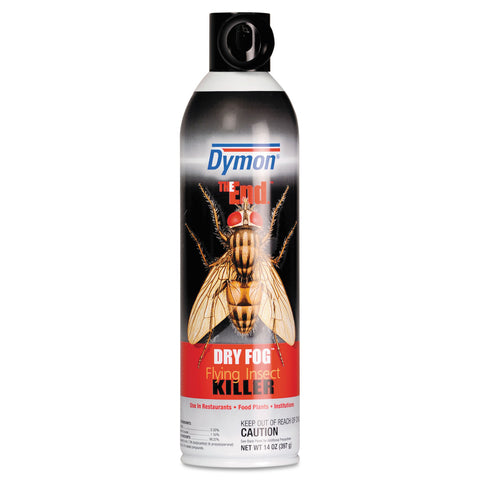 Dymon The End. Dry Fog Flying Insect Killer, 14oz, Can, 12/Carton