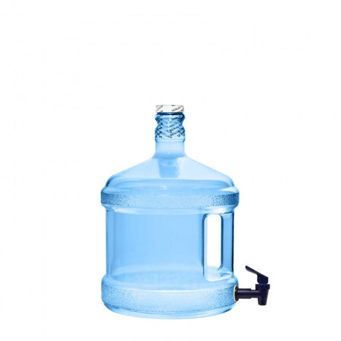 2 Gallon Polycarbonate Water Bottle w/ Dispenser - Blue - Blue / 2 Gallon / Polycarbonate Plastic - Blue / 2 Gallon / Polycarbonate Plastic