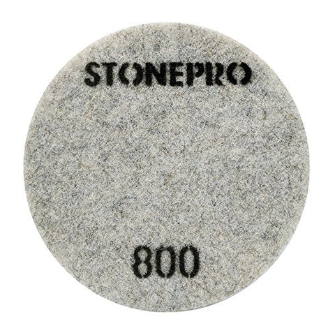 "Stone Pro 17"" Flexible Resin DOT Pads 800 Grit - For Superior Polish On Stone, Concrete and Terrazzo"