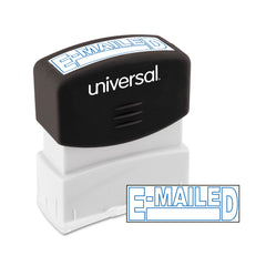 Universal Message Stamp, E-MAILED, Pre-Inked One-Color, Blue