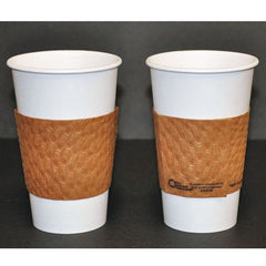 Dopaco Kraft Hot Cup Sleeves, For 10-24 oz Cups, Brown, 1000/Carton - Brown
