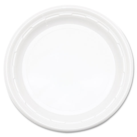 "Famous Service Plastic Dinnerware, Plate, 6"" dia, WE, 125/Pack, 8 Packs/Carton"
