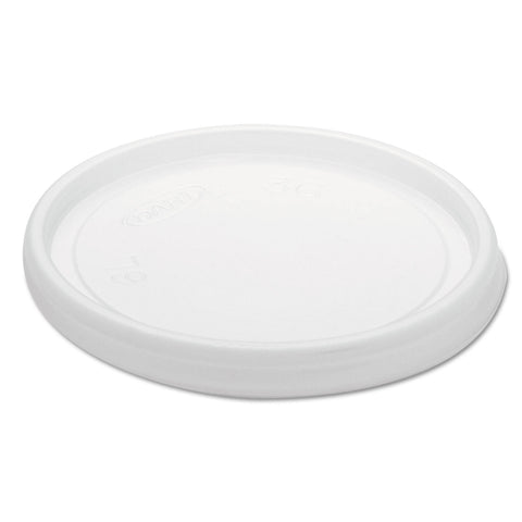 Dart Non-Vented Cup Lids, Fits 6 oz Cups, 2,3-1/2,4 oz Food Containers, Translucent, 1000/Carton