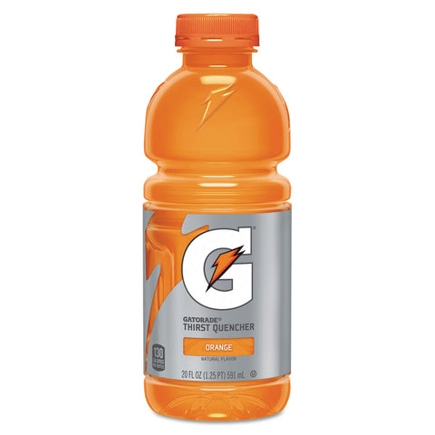 Gatorade G-Series Perform 02 Thirst Quencher, Orange, 20 oz Bottle, 24/Carton