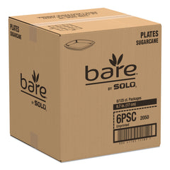"Dart Bare Eco-Forward Sugarcane Dinnerware, 6 7/10"" Plate, Ivory, 125/Pk"
