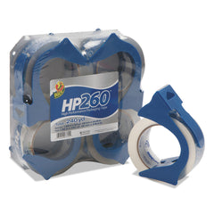 "Duck HP260 Packaging Tape with Dispenser, 3"" Core, 1.88"" x 60 yds, Clear, 4/Pack - Clear / 3"""