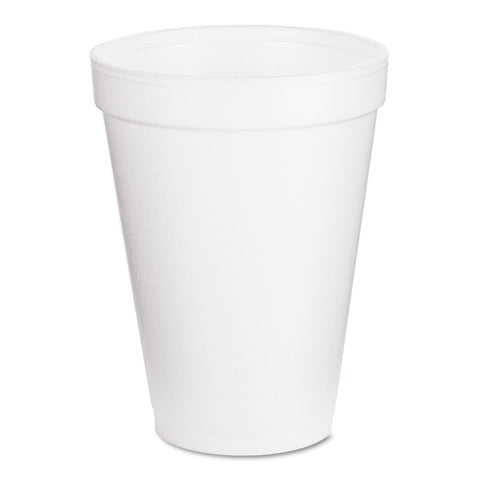 Drink Foam Cups, 12oz, 25/Pack