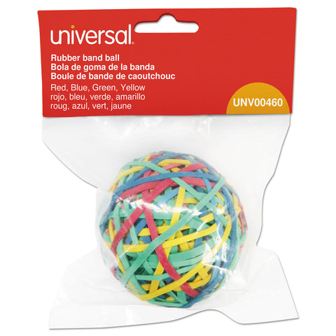 "Universal Rubber Band Ball, 3"" Diameter, Size 32, Assorted Colors, 260/Pack"