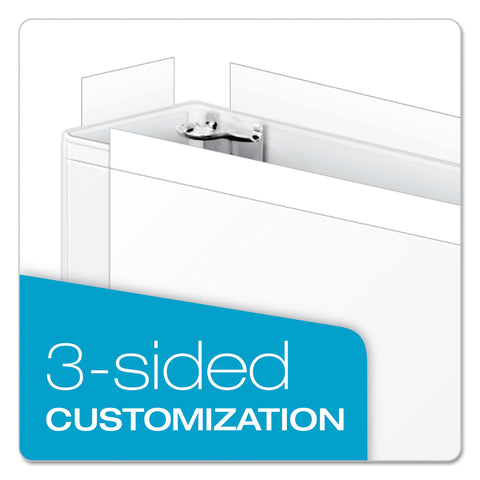 "Cardinal ClearVue Slant-D Ring Binder, 3 Rings, 2"" Capacity, 11 x 17, White - White / 2"""