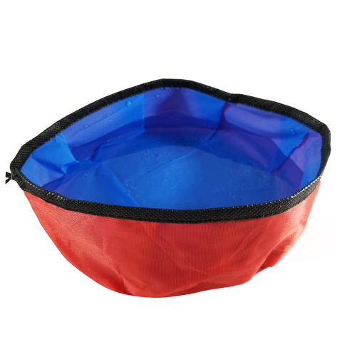 Travel, Foldable Pet Bowl with Latch