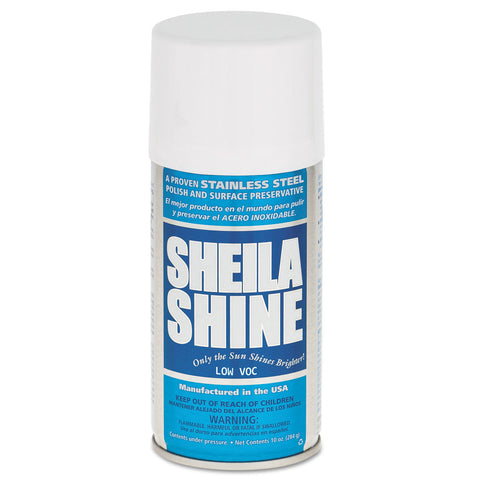 Sheila Shine Low Voc Stainless Steel Cleaner & Polish, 10 oz Can, 12/Carton