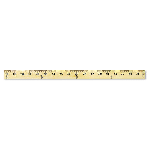Westcott Wood Yardstick with Metal Ends, 36""
