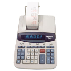 Victor 2640-2 Two-Color Printing Calculator, Black/Red Print, 4.6 Lines/Sec - Black; Red / 8 x 11