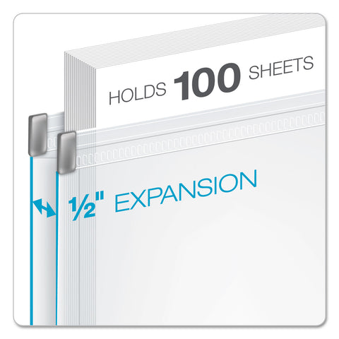 Cardinal Expanding Zipper Binder Pockets, 11 x 8 1/2, Clear, 3/Pack