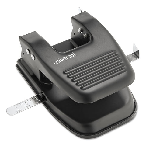"Universal 30-Sheet Two-Hole Punch, 9/32"" Holes, Black - Black"