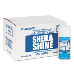 Sheila Shine Stainless Steel Cleaner & Polish, 10oz Aerosol, 12/Carton