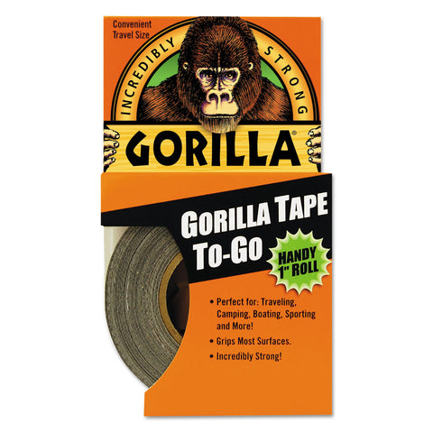 "Gorilla Glue Gorilla Tape, 1.5"" Core, 1"" x 10 yds, Black"