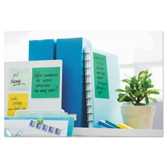 Post-it Notes Super Sticky Recycled Notes in Bora Bora Colors, Lined, 4 x 6, 90-Sheet, 3/Pack