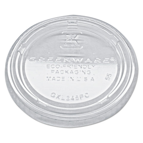 Fabri-Kal Portion Cup Lids, Fits 3.25-5.5oz Cups, Clear, 2500/Carton - Clear