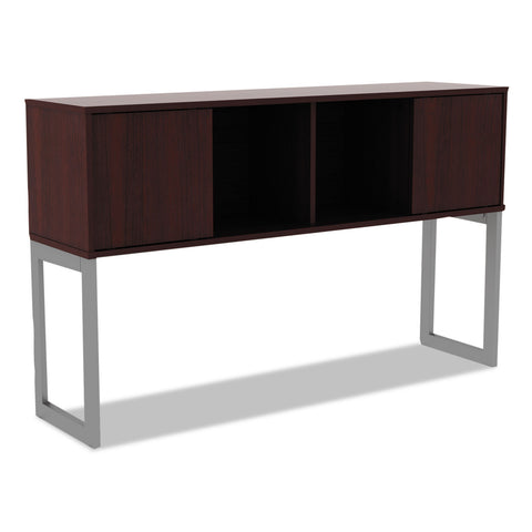 Alera Alera Open Office Desk Series Hutch, 59w x 15d x 36.38h, Mahogany - Mahogany