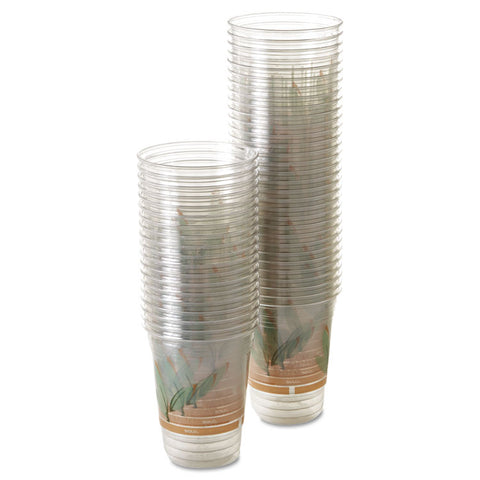 Dart Bare Eco-Forward RPET Cold Cups, 16-18 oz, Clear, 50/Pack, 1000/Carton