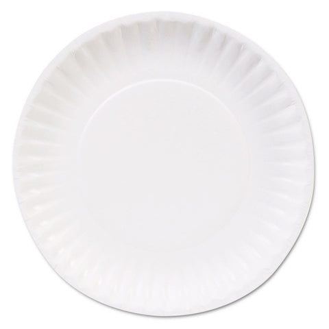 "Dixie Basic Clay Coated Paper Plates, 6"", White, 100/Pack - White"