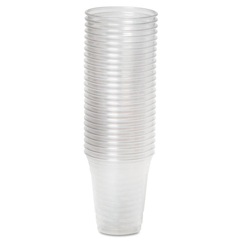Dixie Clear Plastic PETE Cups, Cold, 12oz, WiseSize, 25/Pack, 20 Packs/Carton