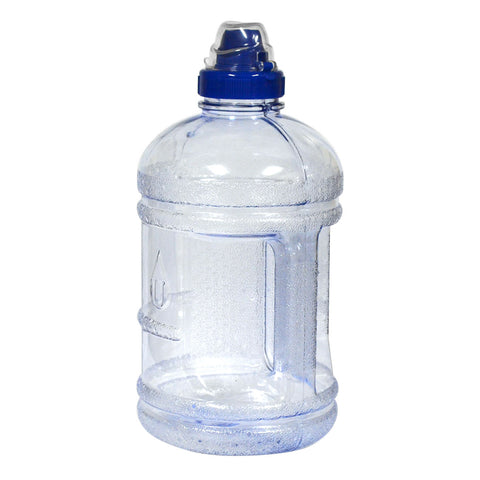 1/2 Gallon BPA Free Water Bottle with Sports Top - Clear - Clear / 1/2 Gallon / BPA Free Plastic