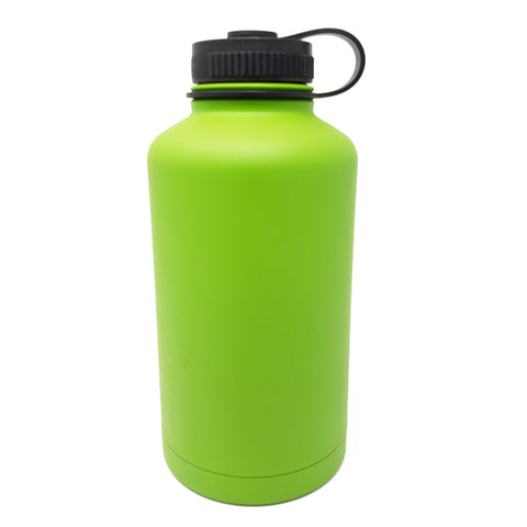 64 oz Double Wall 18/8 Pro-Grade Stainless Vacuum Sealed Big Mouth Water Bottle with Leak-Proof Black Stay-On Cap  | Great For Alkaline Water Storage - Green