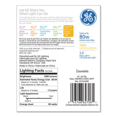 GE Energy-Efficient PAR38 Halogen Bulb, 90 W, Crisp White