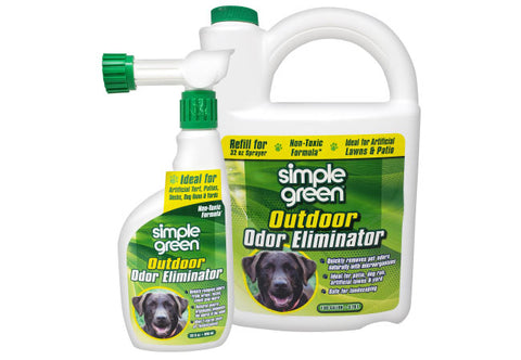 Simple Green Outdoor Odor Eliminator For Pets, Dogs, 32 Ounce Trigger (432107) and 1 Gallon (432108) Refill