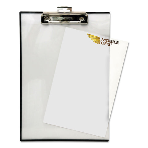 "Mobile OPS Quick Reference Clipboard, 1/2"" Capacity, 8 1/2 x 11, Clear"