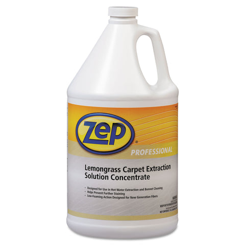 Zep Professional Carpet Extraction Cleaner, Lemongrass, 1gal Bottle