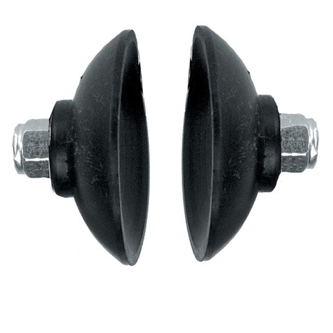 Cups Black EPDM with locknuts (pair)