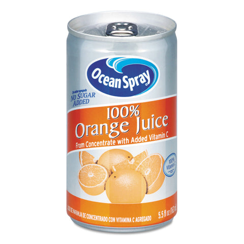 Ocean Spray 100% Juice, Orange, 5.5 oz Can