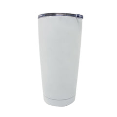 20 oz Double Wall 18/8 Pro-Grade Stainless Vacuum Sealed Tumbler with Clear Leak-Proof Lid with Mouth Opening  | Great For Alkaline Water Storage