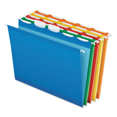 Pendaflex Ready-Tab Colored Reinforced Hanging Folders, Letter Size, 1/5-Cut Tab, Assorted, 25/Box - Assorted / Letter