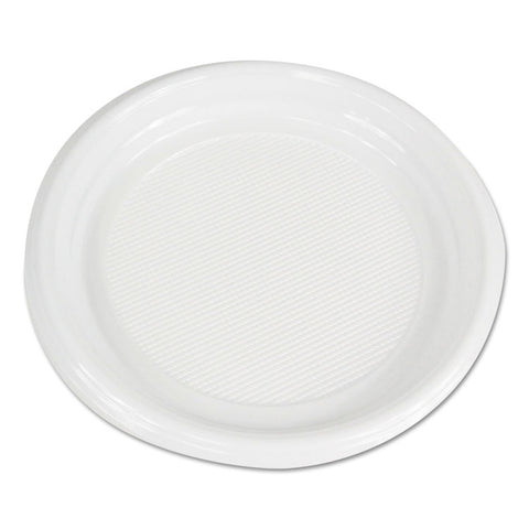 "Boardwalk Hi-Impact Plastic Dinnerware, Plate, 9"" Diameter, White, 500/Carton"